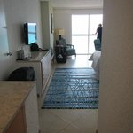 view of the room from the door, nice tile floors