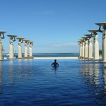 swimming pool at the Mulia
