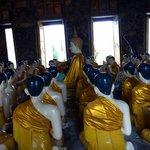 Devotee figures and Buddha