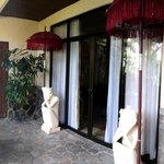 Bali's room balcony