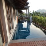 Private pool in our top floor villa