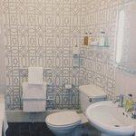 Spacious and Artful Bathroom - Bathtub and Shower Options!