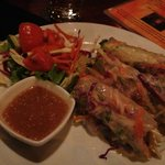Raw salad rollss. Delicious