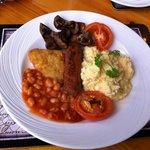 Full Bronte breakfast (vegetarian sausage)
