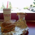 Cheeseburger at 'Five Guys'