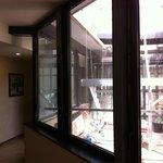 vue depuis le couloir du 6ème étage