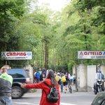 entrée du camping de la villa Camerata de Florence
