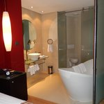 tub and lavatory are part of the bedroom