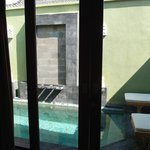 Pool from bedroom