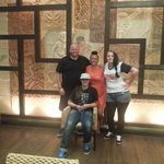 my Family in the bar area oriental resort hotel