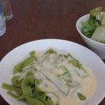 Spinach Fettuccine with Alfredo