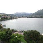 Lugano City bei Tag vom Zimmer aus