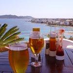 Pool bar area looking to Figuertas and Playa d'en Bossa
