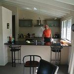 Der Wohn-, Koch- und Essbereich