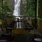 Ramboda waterfall view in Resturant