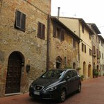 The B&B is located on a side street right in the heart of San Gimignano.