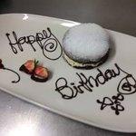 A birthday dessert