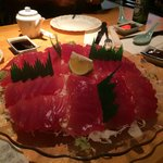 The sashimi was superb, & fresh
