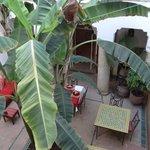 patio du riad vu de la chambre
