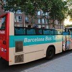 緑ルートのバスは普通のバスのオープンカー