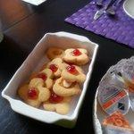Colazione con biscotti fatti in casa
