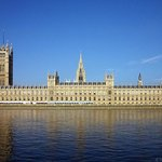The Houses of Parliament viewed from the River Thames