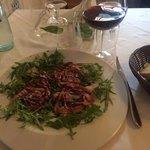 Pancetta, rocket and balsamic salad. Fabulous!