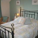 The restful calm colours of Room 6, double en-suite room