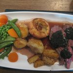 Lamb roast lunch