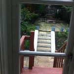 View outside, doorway leads to garden