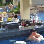 Sunken bar in Busakorn pool