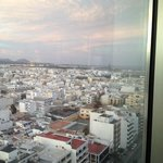 View of Arrecife from top floor of Grand Hotel