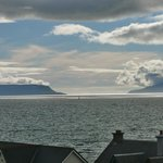 View from bedroom across to Eigg and Skye