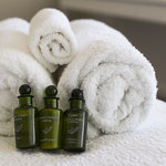 Luxury towels and toiletries