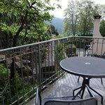 terrasse de notre chambre vue sur les vignes