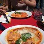 Raviolis ricotta épinards et gnocchi sauce tomate