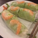 Fresh spring rolls. I can finish an order easily.