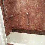 Grand marble bathroom no water pressure.