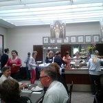Busy breakfast room