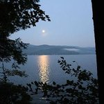 The moon over the lake