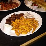 Burnt Ends with Sweet Potato Fries and Quesadillas!