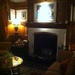 Foyer fireplace