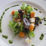 butternut squash and goats cheese starter