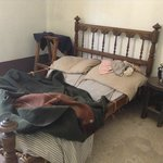 Bedroom in recreated home from the 1720s They explain everything in detail
