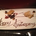 "Wonderful ""s'more"" dessert for our anniversary."