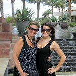 my daughter and I in front of the Red Rock Casino