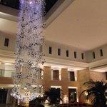 Stunning lobby chandelier
