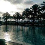 Dawn at poolside
