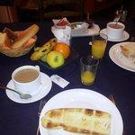 El desayuno, abundante y completo