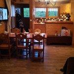 vu d'ensemble salle à manger,cuisine